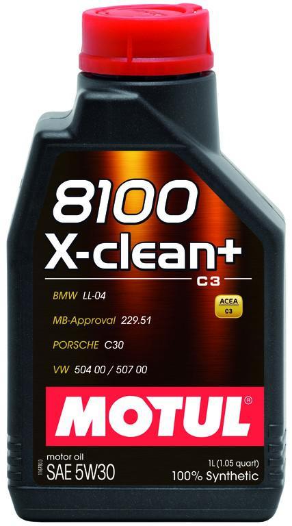 ΛΙΠΑΝΤΙΚΟ ΚΙΝΗΤΗΡΑ MOTUL 8100 X-CLEAN + 5W30 C3 1LT