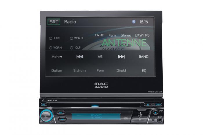Ηχοσύστημα Αυτοκινήτου Multimedia Player Mac Audio 1 DIN με LCD οθόνη 7