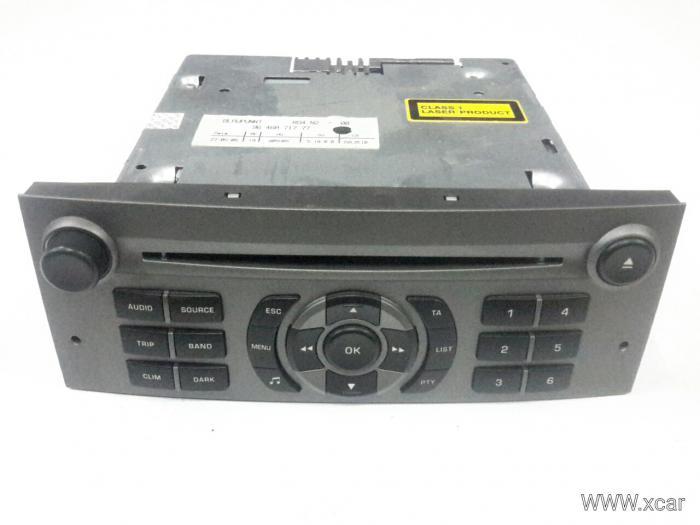 Ράδιο CD PEUGEOT 407 Sedan / 4dr 2004 - 2008 ( 6D_ ) 1600  ( 9HY )  Diesel  109  HDi #9646871777