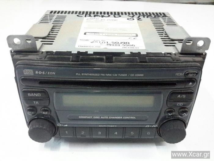 Ράδιο CD SUZUKI GRAND VITARA SUV/ ΕΚΤΟΣ ΔΡΟΜΟΥ/ 5dr 2003 - 2006 ( JA ) XL-7 2000 (RHW) diesel 109 JA420 ( TX82 ) HDI #3910150J90