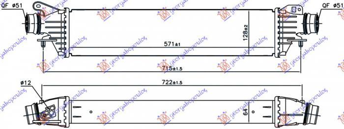 Ψυγείο Intercooler OPEL CORSA Hatchback / 3dr 2014 - ( E ) 1600cc Petrol #610006220