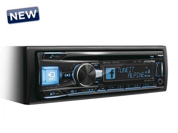Ράδιο CD/MP3/USB/BT Alpine CDE-195BT
