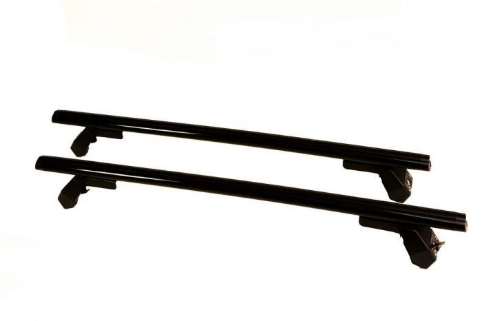 Μπάρες Οροφής Αυτοκινήτου Hermes GS3AM 110cm Set KIT S710 Αλουμινίου Μαύρες