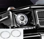 SCHATZ - Mercedes G Class W463 - Χρώμια προβολέων, σετ 2 τεμ.