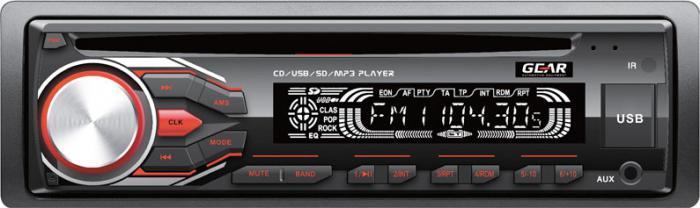 GEAR - ΡΑΔΙΟ CD/USB/ΜΡ3, ΜΕ ΚΟΚΚΙΝΟ ΦΩΤΙΣΜΟ GR-3251