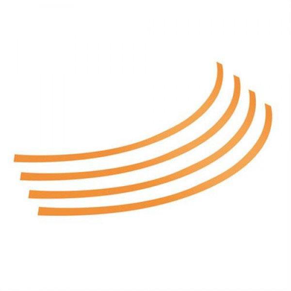 Διακοσμητικά Αυτοκόλλητα Ζάντας Πλαστικά - Πορτοκαλί 14''-15''-16'