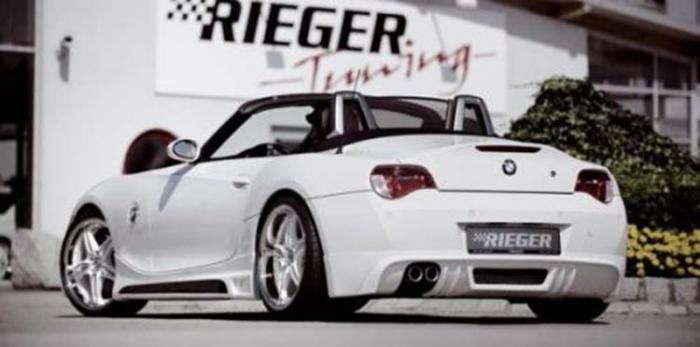 RIEGER Πίσω Σπόιλερ carbon look for sport rear muffler left/right 4x90mm BMW Z4