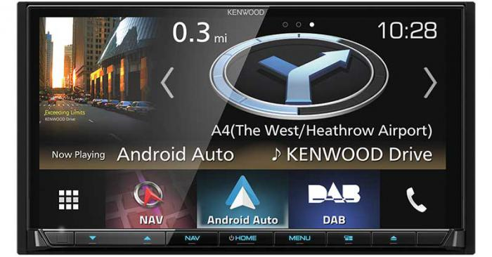 "Kenwood DNX-8180DABS 7.0"" AV Navigation System with Smartphone control, Bluetooth & DAB+ Radio."