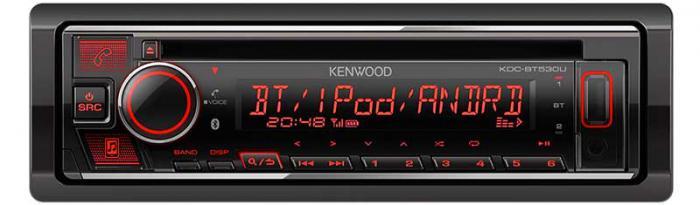 Kenwood KDC-BT730DAB CD/USB-Receiver with Built-in Bluetooth & DAB+ Radio.