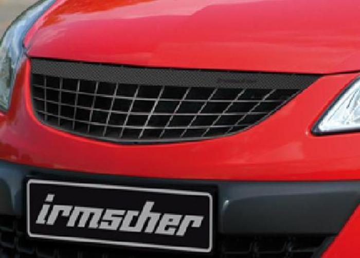 Irmscher – Μάσκα - front grill update with carbon look bar 3-5 door Opel Corsa D