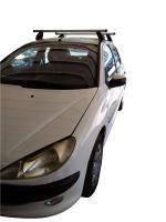 MENABO Kit Μπάρες Αλουμινίου MENABO - Πόδια για Peugeot 206 1998-2009 ΜΠ.P206.06