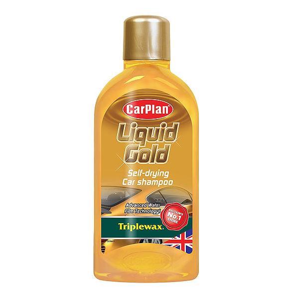CarPlan ΣΑΜΠΟΥΑΝ ΠΟΥ ΣΤΕΓΝΩΝΕΙ ΜΟΝΟ ΤΟΥ CARPLAN TRIPLEWAX LIQUID GOLD 1LTR CP-CLG001