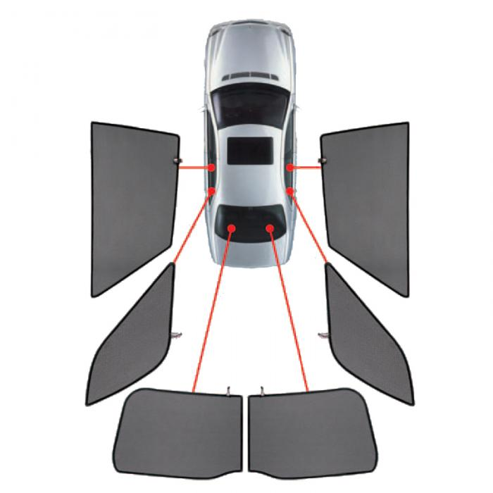 CarShades Κουρτινάκια Μαρκέ για MINI COUNTRYMAN 5D 2010+ μόνο για πίσω PVC.MIN-COU-5-A/18
