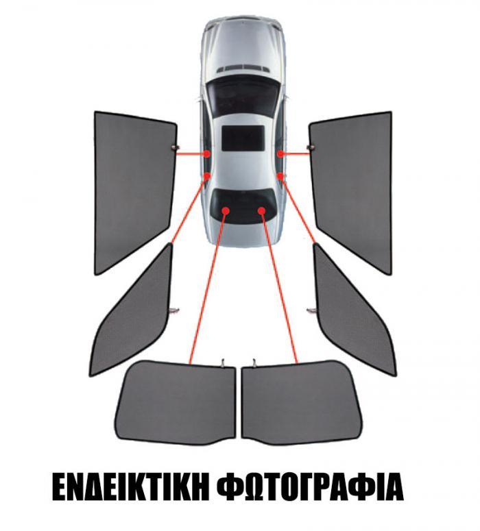 CarShades SKODA OCTAVIA SW 2013+ 6ΤΕΜ. ΚΟΥΡΤΙΝΑΚΙΑ ΜΑΡΚΕ PVC.SKO-OCTA-E-C