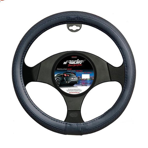 Simoni Racing ΚΑΛΥΜΜΑ ΤΙΜΟΝΙΟΥ TOTAL BLACK SMALL ΜΑΥΡΟ ΔΕΡΜΑΤΙΝΟ 35>37cm SRCVT/16S