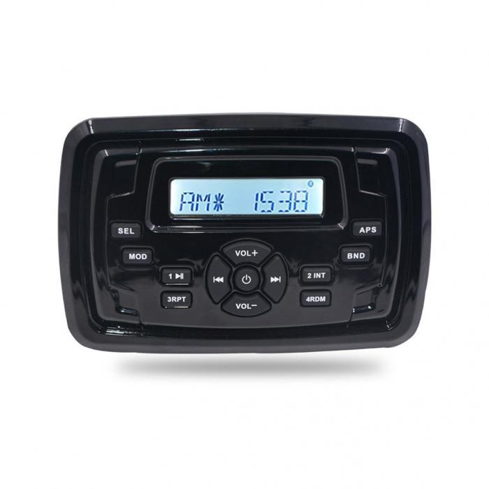 MP3 PLAYER 155X105mm - 12V - 4X45W ΜΕ ΡΑΔΙΟΦΩΝΟ/USB/BLUETOOTH (ΑΔΙΑΒΡΟΧΟ/ΜΑΥΡΟ) H-8103/HSD