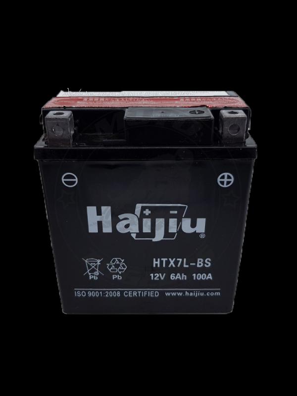 HAIJIU 12V 6AH-100CCA HTX7L-BS (YTX7L-BS) AGM ΜΠΑΤΑΡΙΑ MOTO