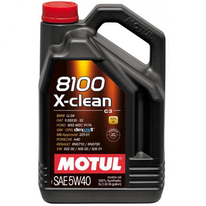 MOTUL 8100 X-CLEAN C3 5W40 5L