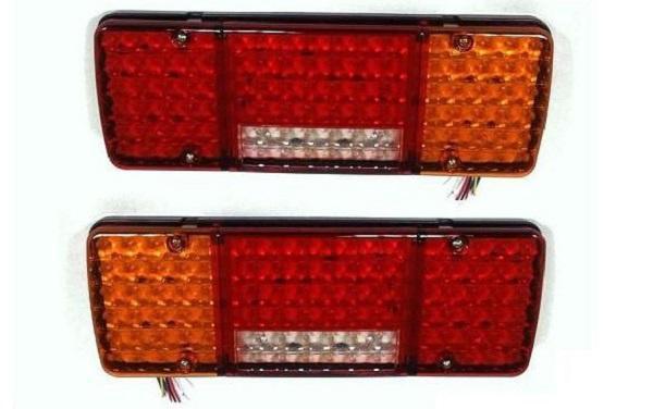 SHOPBATTERY Σετ LED Φανάρι Φορτηγού Πίσω 2 τεμ 24V Φρένων Φλας Όπισθεν Πορείας Ομίχλης