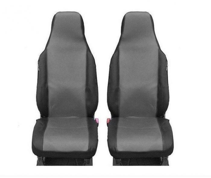 SHOPBATTERY Καλύμματα Υφασμάτινα Για Μπροστινά Καθίσματα Toyota Aygo Citroen C1 Peugeot 107 2 Τεμάχια σε Γκρί