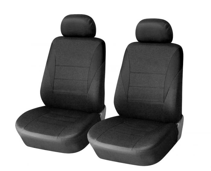 SHOPBATTERY Ταπετσαρία Για Μπροστινά Καθίσματα 2 Τεμάχια Μαύρα TAP001.SB