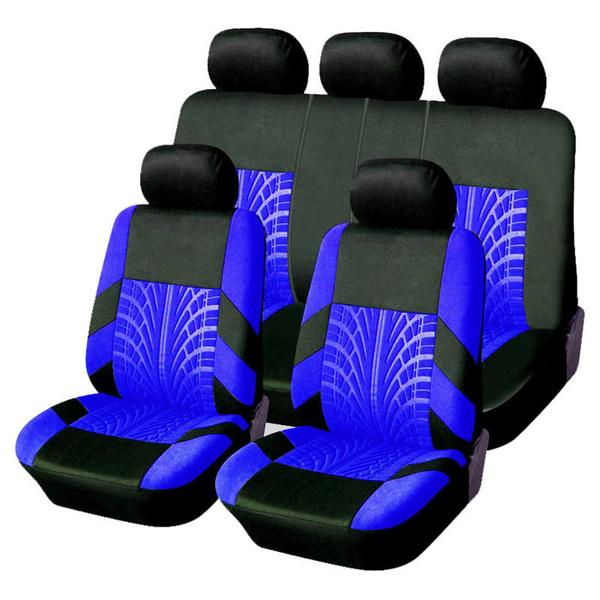 SHOBATTERY Σετ Καλύμματα Αυτοκινήτου Υψηλής Τεχνολογίας Υφασμάτινα 9 Τεμαχίων σε Μπλέ