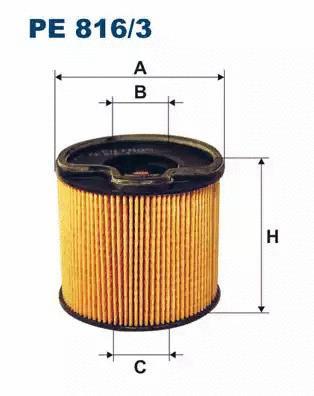 Φίλτρο καυσίμων FILTRON PE8163