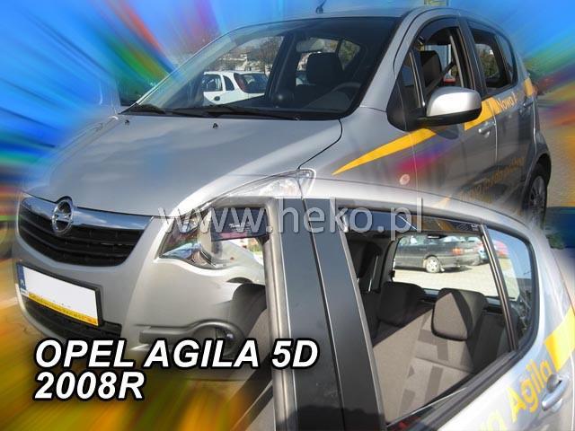 Ανεμοθραύστες Heko Για Opel Agila 5D 2008R Φιμέ Χρώμα Σετ 4 Τεμάχια Εμπρός-Πίσω