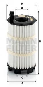 Φίλτρο λαδιού MANN-FILTER HU7005X